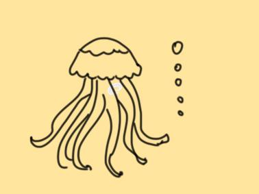 小学生海底动物简笔画-简笔画海底小动物