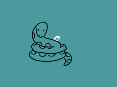 超简单的蛇简笔画要怎么画