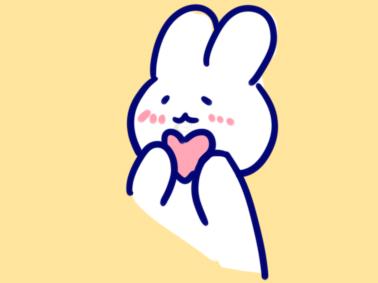 萌萌的兔子简笔画要怎么画
