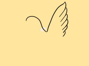 和平的白鸽简笔画要怎么画