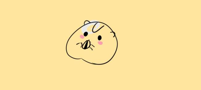 可愛的小倉鼠簡筆畫怎么畫