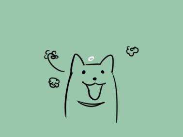 开心的柴犬简笔画要怎么画