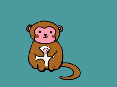可爱的猴子简笔画要怎么画
