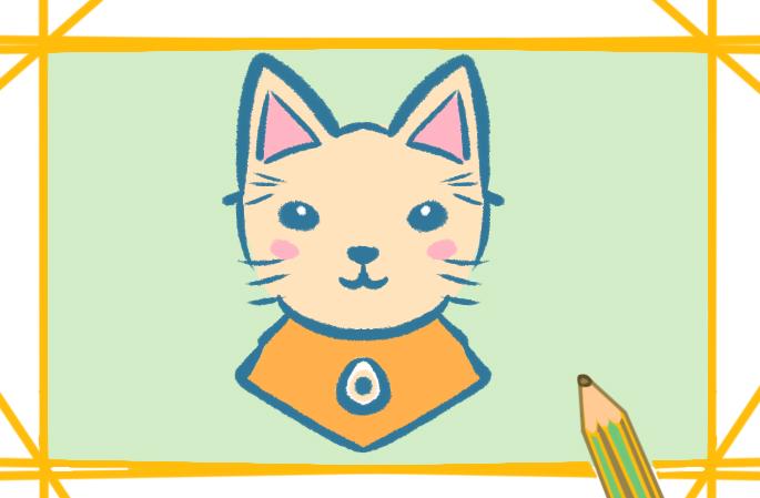 漂亮的猫儿简笔画图片教程