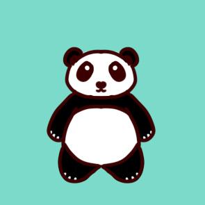 可爱的大熊猫简笔画要怎么画