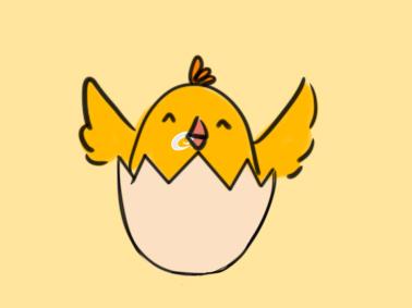 孵化的小鸡简笔画要怎么画