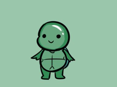 卡通乌龟简笔画要怎么画