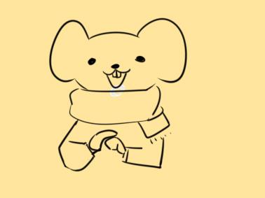 超簡單的老鼠拜年簡筆畫步驟圖