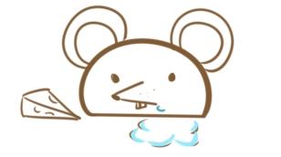 贪吃的老鼠简笔画怎么画