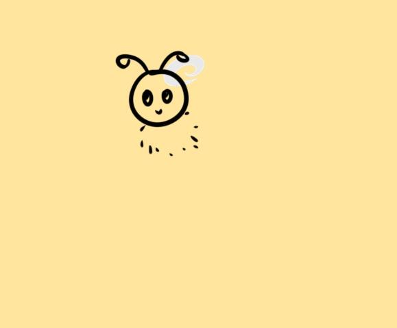超簡單的蜜蜂簡筆畫步驟圖