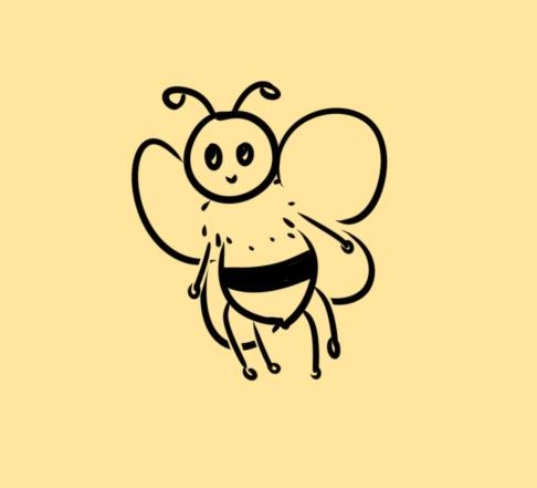 简易的蜜蜂简笔画要怎么画