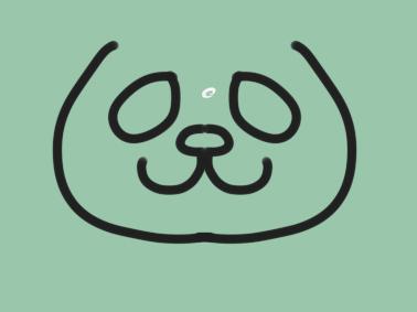 可爱的胖熊猫简笔画教程步骤