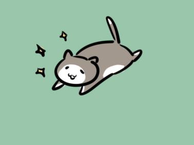 可爱的猫咪简笔画图片步骤教程