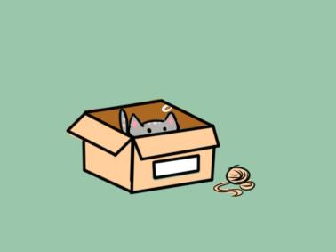 爱钻箱子的猫简笔画要怎么画