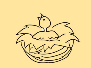 光秃秃的小鸟简笔画要怎么画