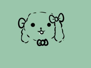 可爱的泰迪狗简笔画要怎么画