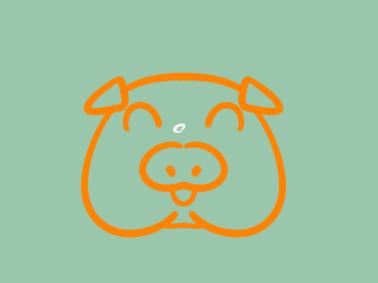 憨憨的猪猪简笔画教程步骤