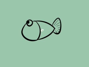 卡通小鱼简笔画要怎么画