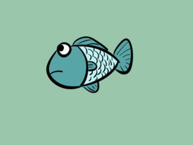 好看的卡通小鱼简笔画要怎么画