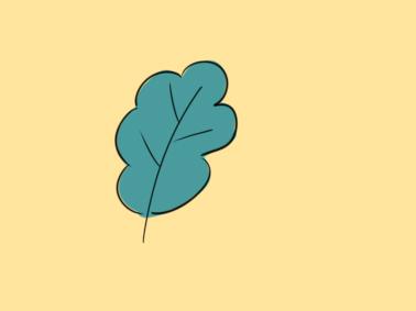 碧綠的小葉子簡筆畫怎么畫
