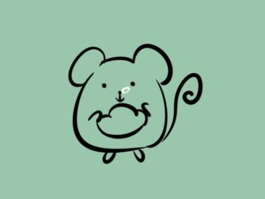 生肖老鼠简笔画要怎么画