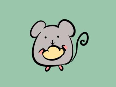 生肖老鼠簡筆畫要怎么畫