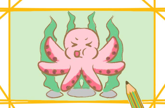 肥嘟嘟的章鱼简笔画要怎么画