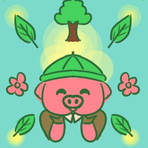 植树节植树的小猪简笔画要怎么画