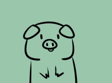 憨憨的小猪简笔画要怎么画