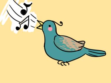 可爱的百灵鸟简笔画要怎么画
