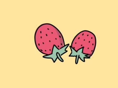 小清新草莓简笔画要怎么画