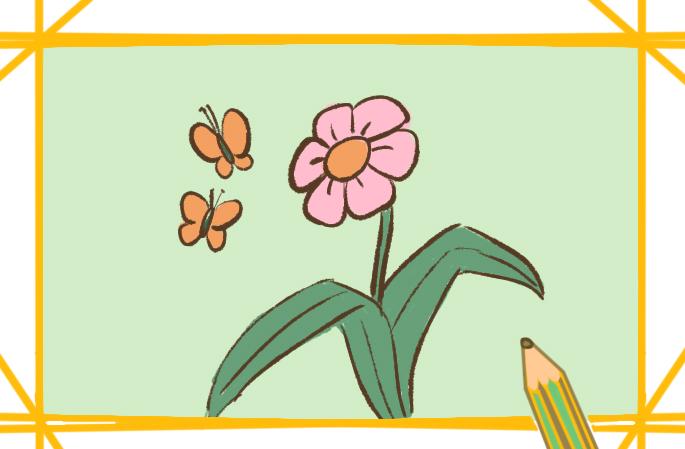 春天的花简笔画图片教程