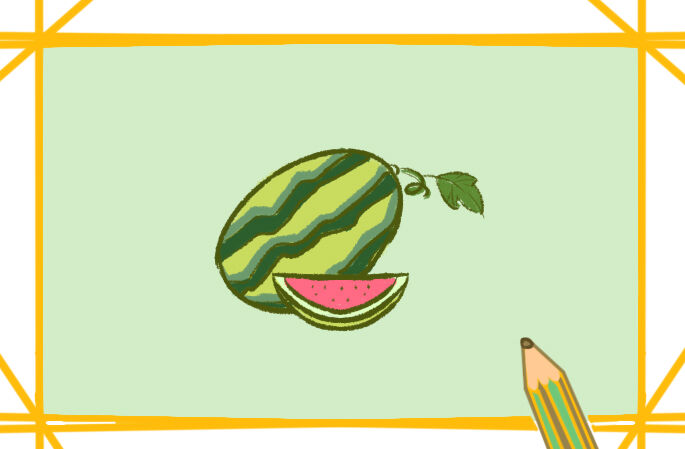清涼的西瓜簡筆畫要怎么畫西瓜簡筆畫