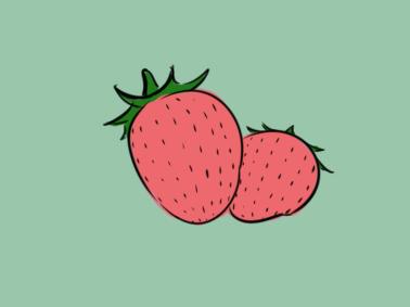 水果草莓简笔画要怎么画