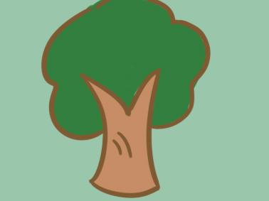 卡通大树简笔画要怎么画