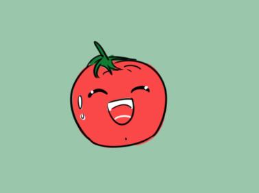 卡通西红柿简笔画要怎么画