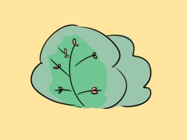 簡單的樹叢簡筆畫要怎么畫