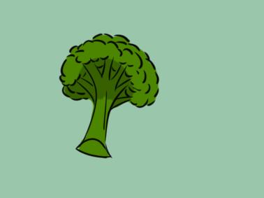 蔬菜之花椰菜简笔画要怎么画