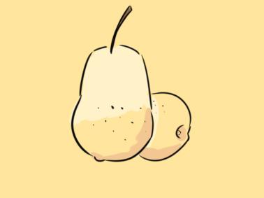 水果之梨子簡筆畫要怎么畫