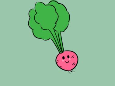 蔬菜之红萝卜简笔画要怎么画