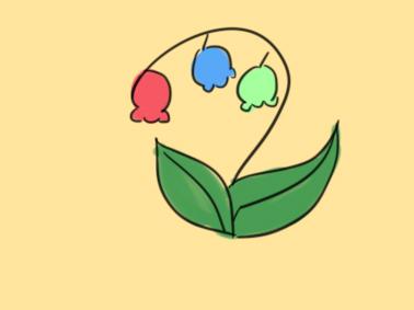 鲜花之铃兰花简笔画要怎么画