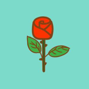 漂亮的玫瑰花简笔画要怎么画