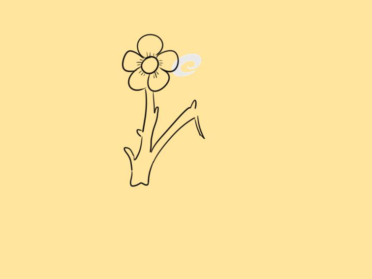 漂亮的梅花简笔画教程步骤