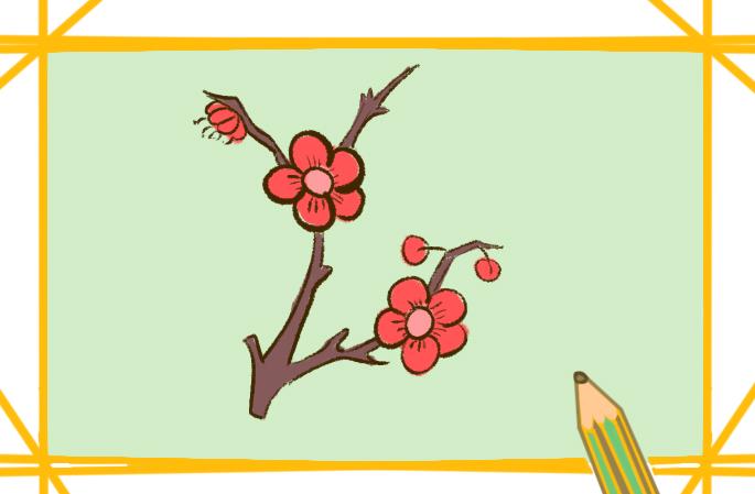 漂亮的梅花简笔画要怎么画