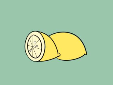 清新柠檬简笔画要怎么画