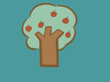 漂亮的苹果树简笔画要怎么画
