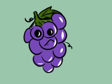 水果葡萄简笔画要怎么画