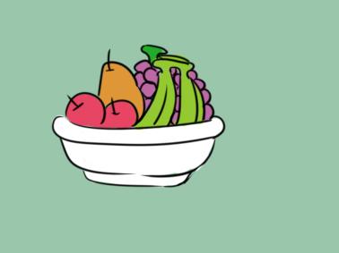 好看的水果盘简笔画要怎么画
