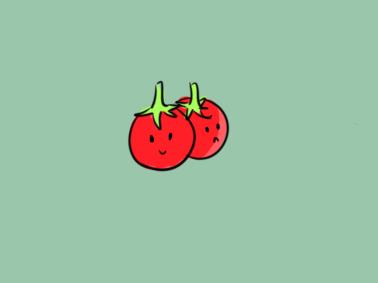 蔬菜番茄简笔画要怎么画