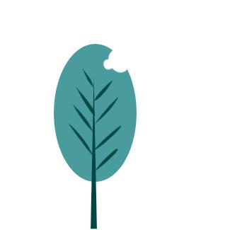 小清新的绿叶简笔画要怎么画